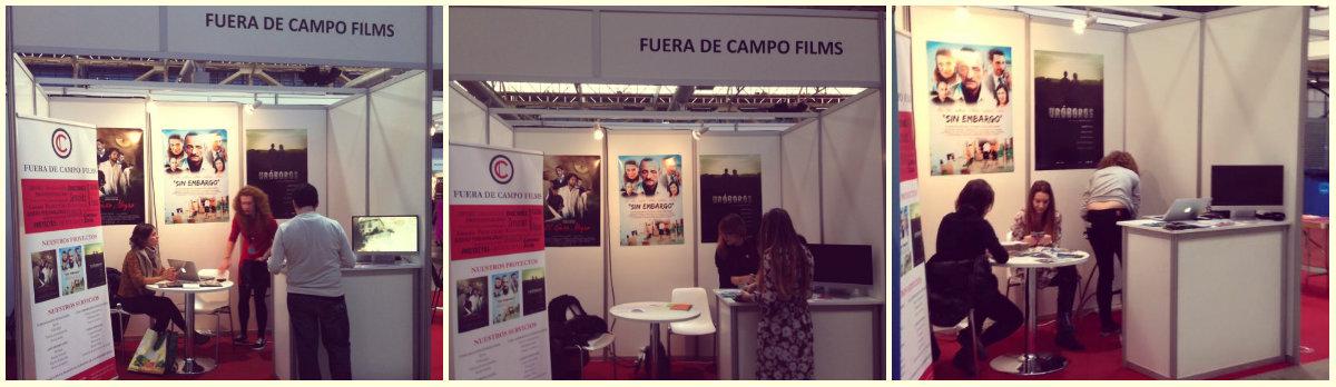 Stand de Fuera de Campo Films en el Salón del Cine y Las Series