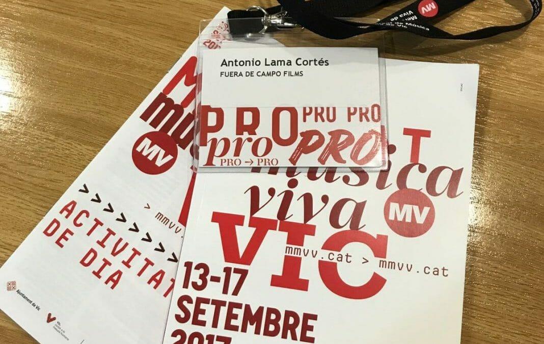 Fuera de Campo Films en el Mercat de Música Viva de Vic.