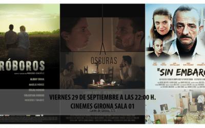 """ESTRENO DE LOS CORTOMETRAJES """"URÓBOROS"""", """"A OSCURAS"""" Y """"SIN EMBARGO"""".."""