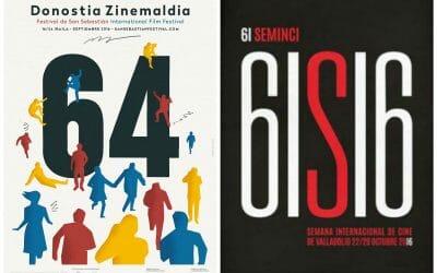 Carteles para las próximas ediciones de la Seminci y San Sebastián, por Movies4indies